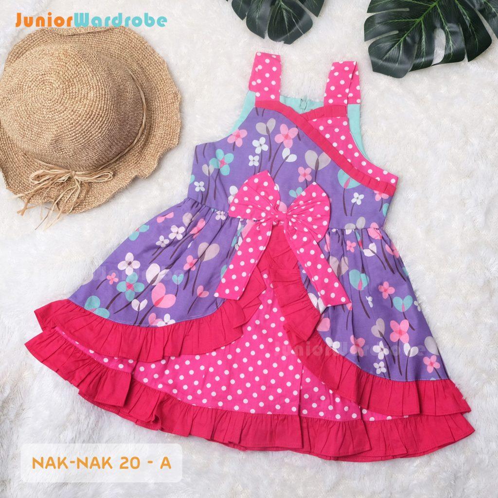 NAK 20 KIDS-A POLKADOT FLORAL DRESS