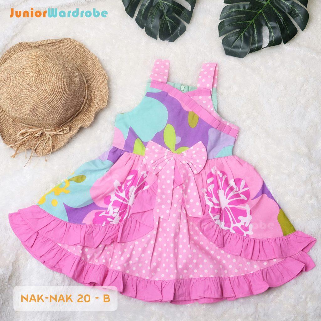 NAK 20 KIDS-B POLKADOT FLORAL DRESS