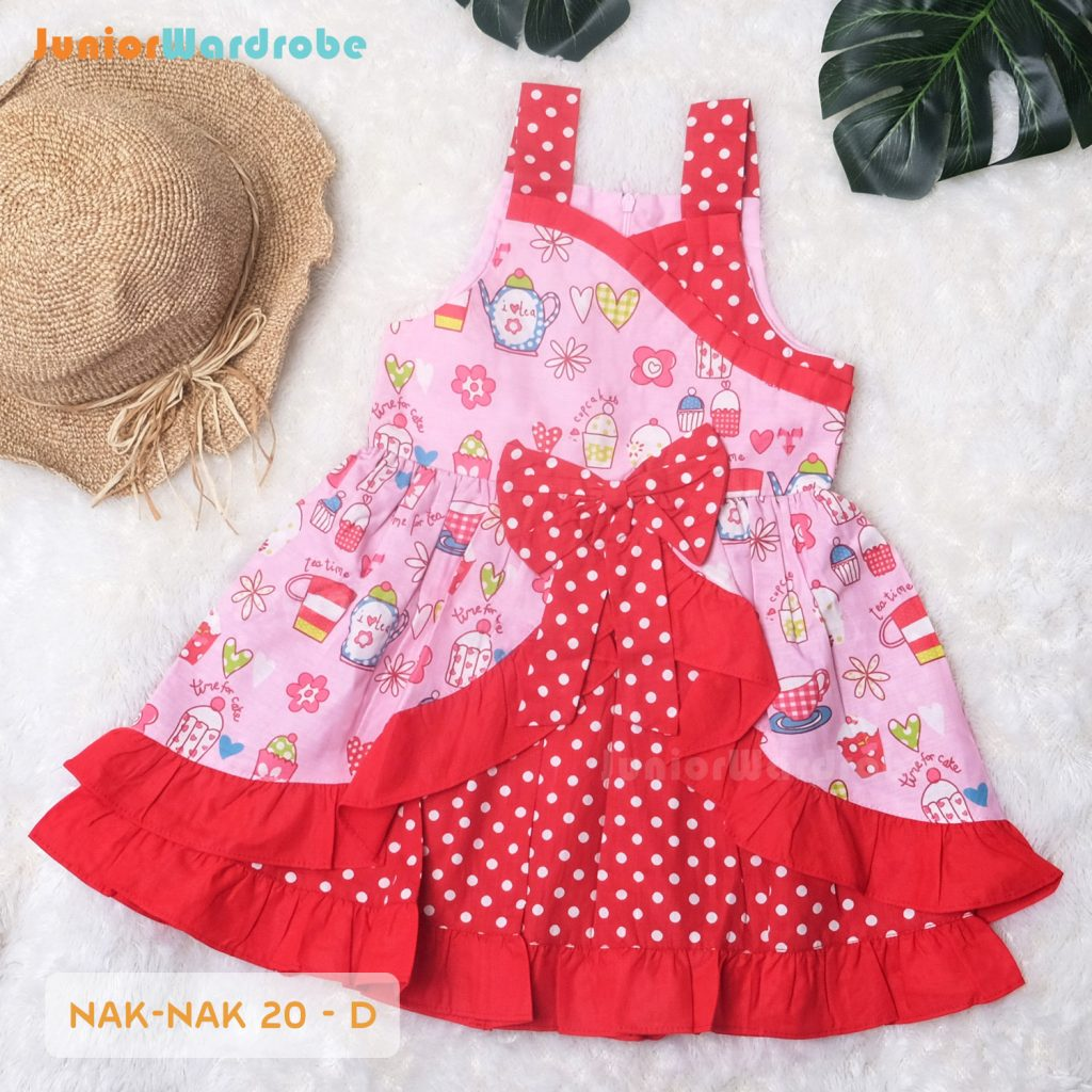 NAK 20 KIDS-D POLKADOT FLORAL DRESS