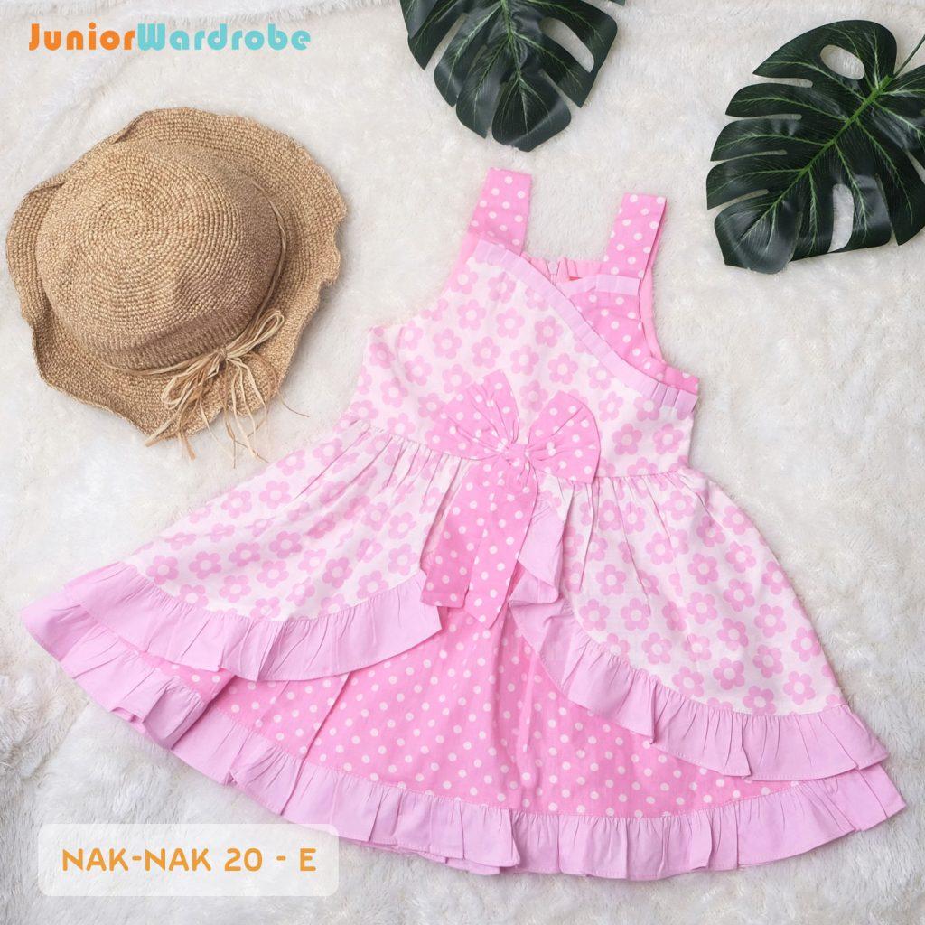 NAK 20 KIDS-E POLKADOT FLORAL DRESS