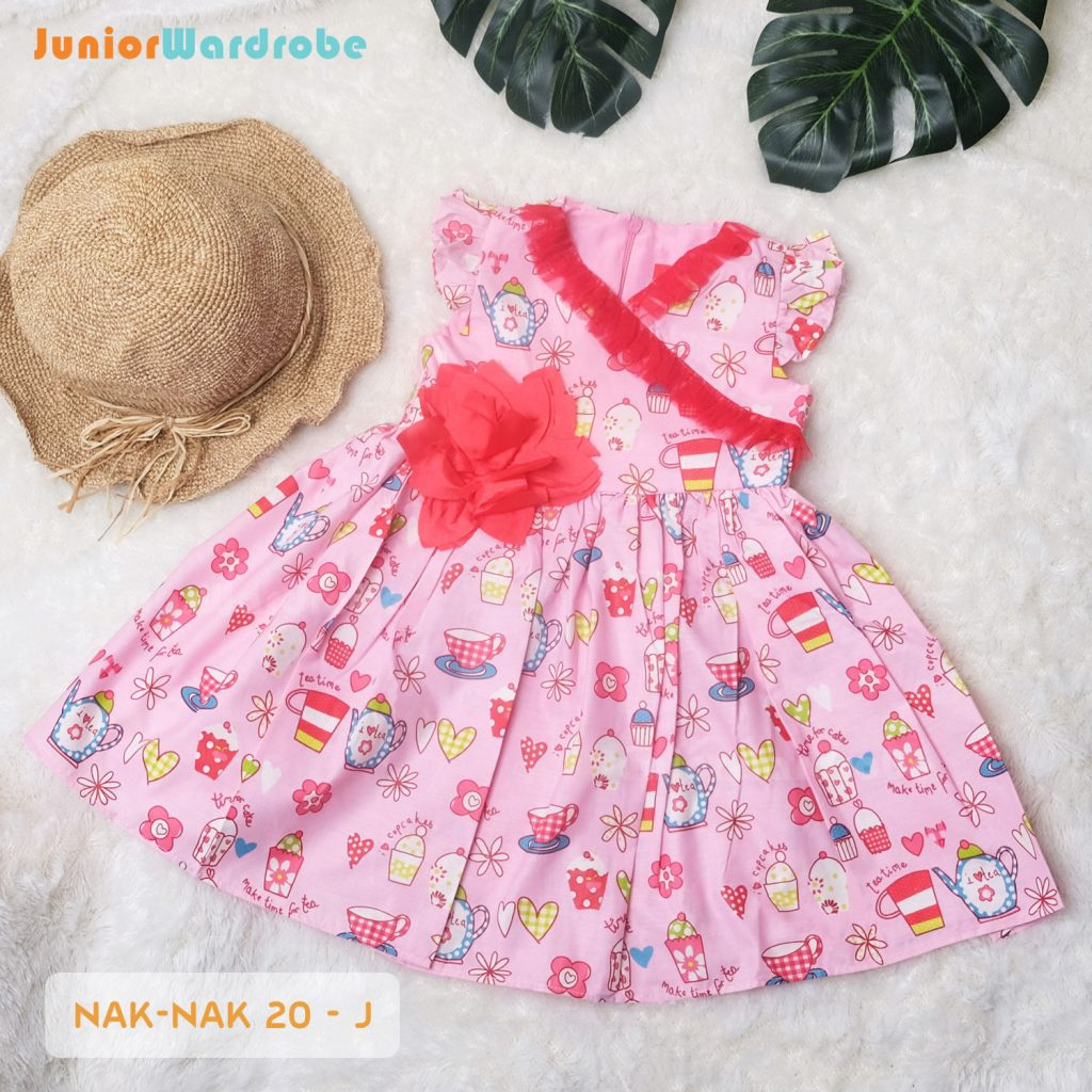 NAK 20 KIDS-J POLKADOT FLORAL DRESS