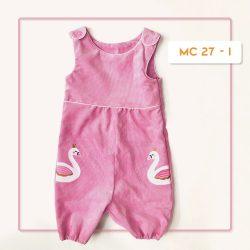MC 27 BABY-I FLAMINGO WHITE CODORAY JUMPTSUIT & BORDIR