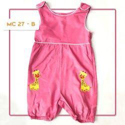 MC 27 BABY-B GIRAFFE CODORAY JUMPTSUIT & BORDIR