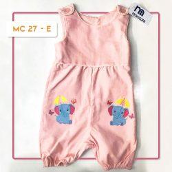 MC 27 BABY-E ELEPHANT CODORAY JUMPTSUIT & BORDIR