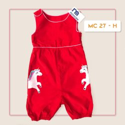 MC 27 BABY-H UNICORN CODORAY JUMPTSUIT & BORDIR