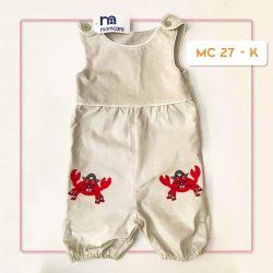 MC 27 BABY-K CRAB CODORAY JUMPTSUIT & BORDIR