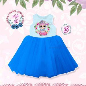 MA 40 KIDS B- LOL BLUE DRESS