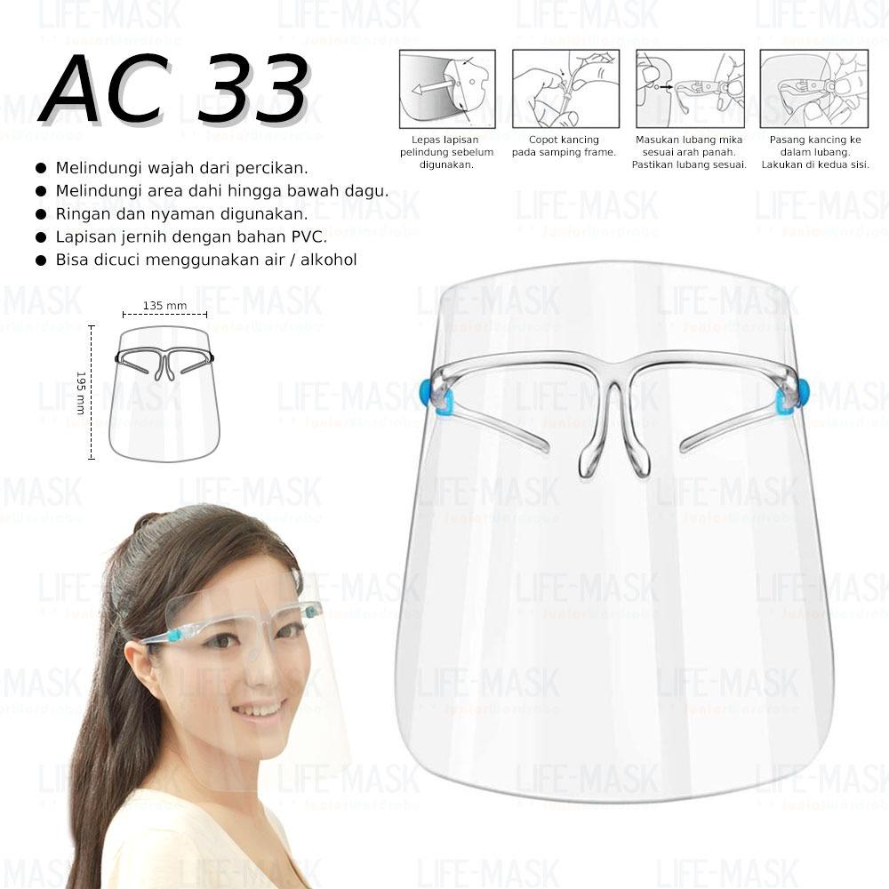 """Anti Corona"" AC 33 GLASES FACE SHIELD"