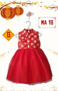 Dress Imlek Mardi Amber Red Satin MA 18- G
