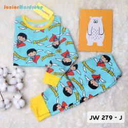 Pajamas Juniorwardrobe Digital Printing Blue Superman Kids JW 279- J