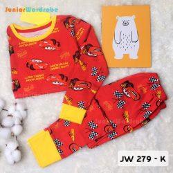 Pajamas Juniorwardrobe Digital Printing Red Cars Kids JW 279- K