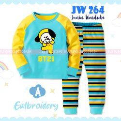 Pajamas Juniorwardrobe BTS Blue Cotton+Printing Kids JW 264- A