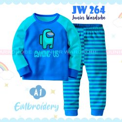 Pajamas Juniorwardrobe Among Us Blue Cotton+Printing Teen JW 264- A1