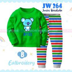 Pajamas Juniorwardrobe BTS Green Cotton+Printing Kids JW 264- B