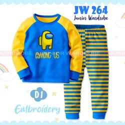 Pajamas Juniorwardrobe Among Us Blue Cotton+Printing Teen JW 264- B1
