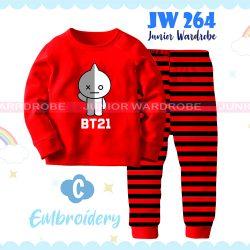 Pajamas Juniorwardrobe BTS Red Cotton+Printing Kids JW 264- C