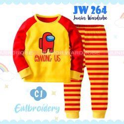 Pajamas Juniorwardrobe Among Us Yellow Cotton+Printing Teen JW 264- C1