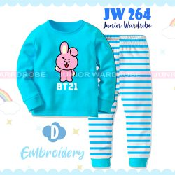Pajamas Juniorwardrobe BTS Blue Cotton+Printing Kids JW 264- D