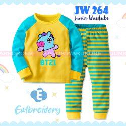 Pajamas Juniorwardrobe BTS Yellow Cotton+Printing Kids JW 264- E