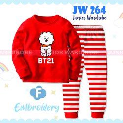 Pajamas Juniorwardrobe BTS Red Cotton+Printing Kids JW 264- F