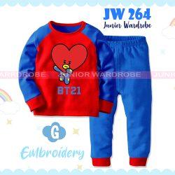 Pajamas Juniorwardrobe BTS Red Blue Cotton+Printing Kids JW 264- G