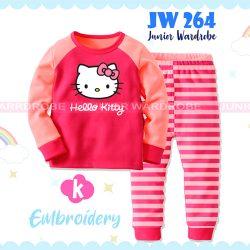 Pajamas Juniorwardrobe Hello Kitty Pink Cotton+Printing Kids JW 264- K