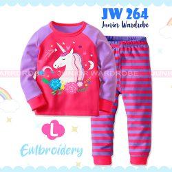 Pajamas Juniorwardrobe Unicorn Pink Cotton+Printing Kids JW 264- L