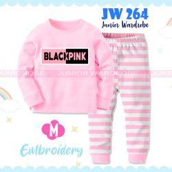 Pajamas Juniorwardrobe Black Pink Baby Pink Cotton+Printing Kids JW 264- M